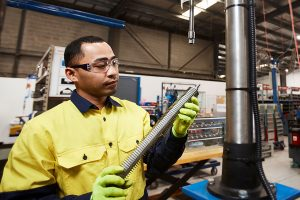 Local facilities and manufacturing using in-house equipment