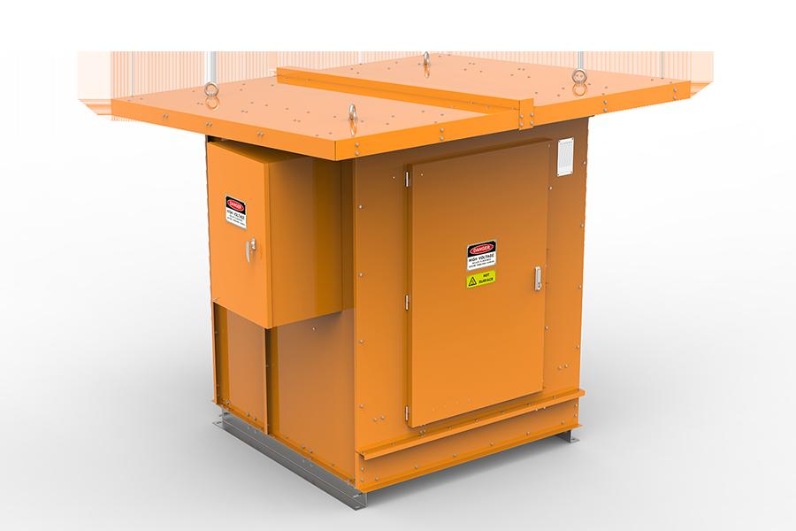 Neutral earthing resistors dark orange enclosure